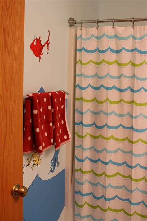 dr suess shower curtain decorating the dorchester way dr seuss bathroom