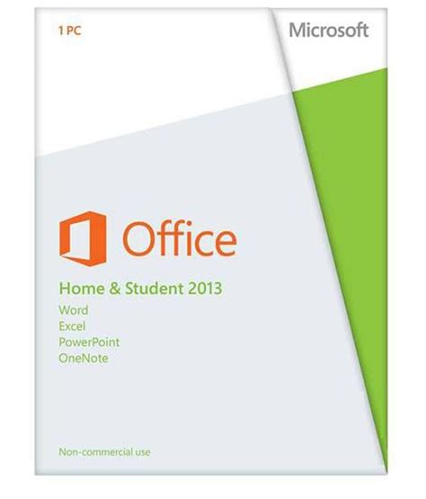 microsoft office home and student fpp 2013 1 pc 1 year