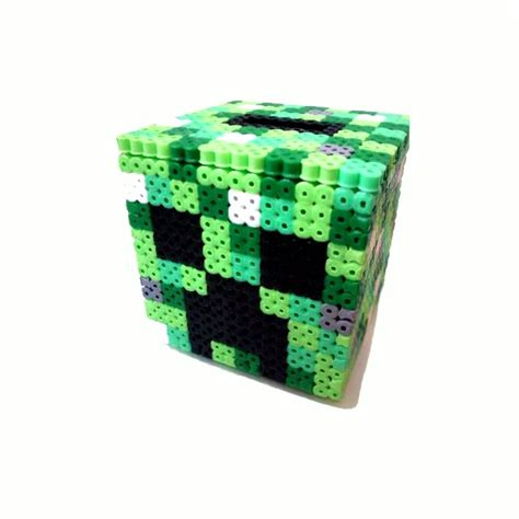 minecraft box 297 best images about hama on perler
