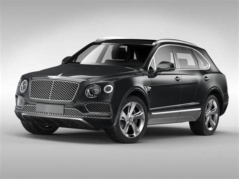 bentley bentayga 2017 3d bentley bentayga 2017 cgtrader
