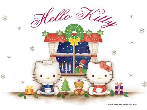 wallpaper hello kitty christmas hello kitty christmas backgrounds wallpaper cave
