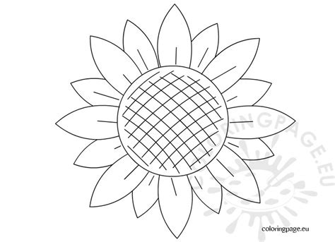 sunflower template preschool coloring page