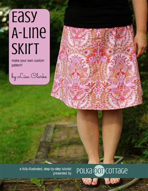 simple pattern a line skirt easy a line skirt sewing tutorial by lisa clarke craftsy