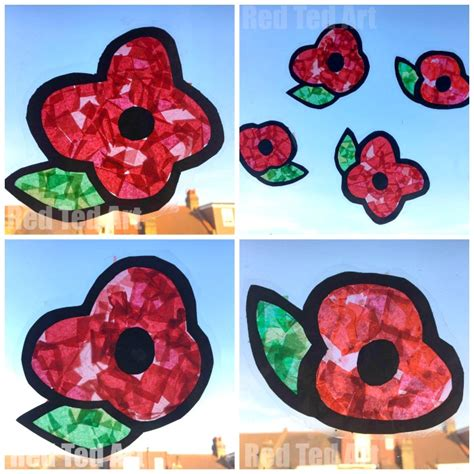 poppy crafts for poppy suncatchers for preschoolers ted s