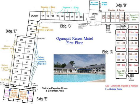 ogunquit resort motel resort layout ogunquit maine