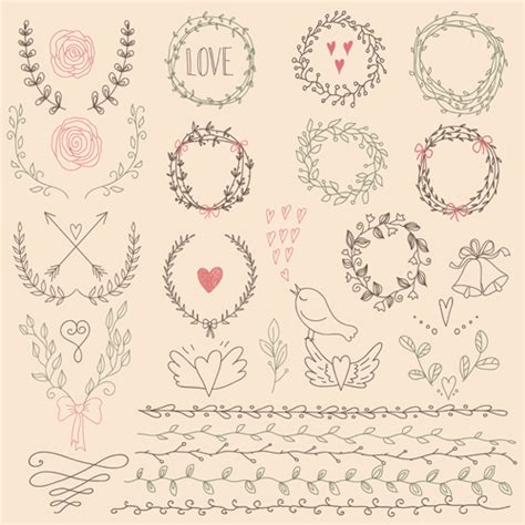 eps format borders hand drawn floral frame with border vector 01 welovesolo