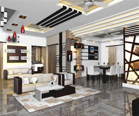 home and interiors interior model living and dining from kerala model home