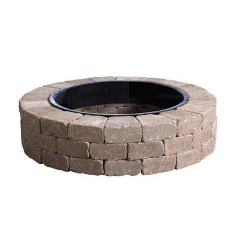 Firepit Liner Anchor 52 In Northwoods Fresco Pit Kit With Metal Liner 70300879 The Home Depot