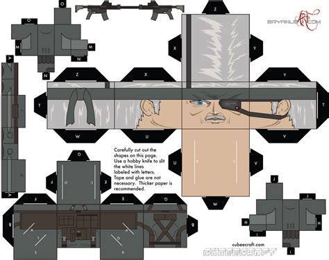 Gear Papercraft - metal gear solid cubeecraft