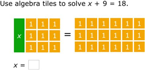 ixl model and solve equations using algebra tiles (year