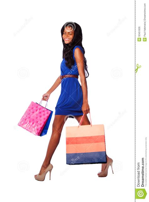 high heels shopping happy high heels fashion shopping royalty free stock image