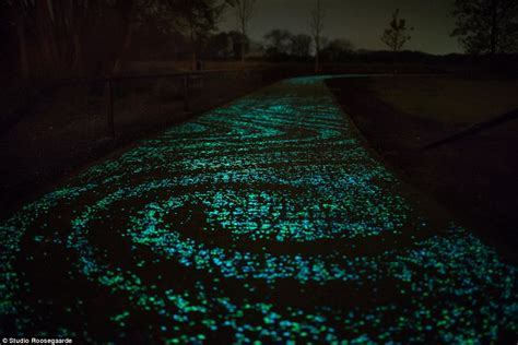 desain kamar glow in the dark stunning starry night inspired bike path opens in the