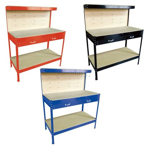 garage bench storage steel garage tool box work bench storage pegboard shelf