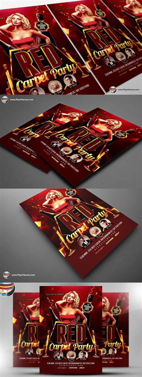 Red Carpet Event Flyer Template carpet event flyer template photoshop graphic