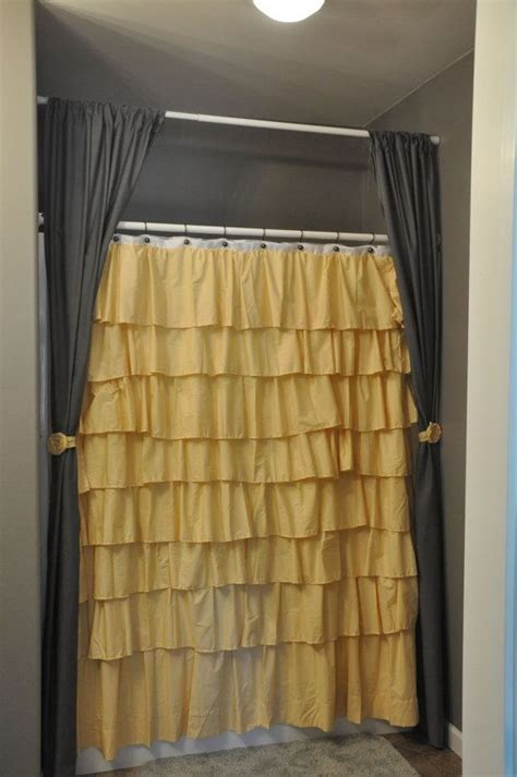 yellow ruffle shower curtain ruffle shower curtain