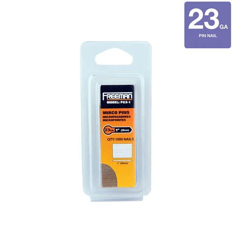 Home Depot Gift Card Without Pin - freeman 1 in 23 gauge glue collated pin nails 1000 per box p23 1 the home depot