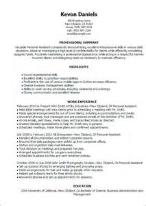 Personal Assistant Resume Exle by Professional Personal Assistant Templates To Showcase Your Talent Myperfectresume