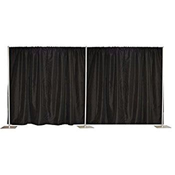 pipe and drape fabric com pipe and drape backdrop 8ft x 20ft black