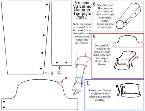 Vincent Gauntlet Template vincent s gauntlet template 3 by roxastsuna on deviantart
