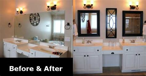 bathroom mirror remodel remodel renovation ideas