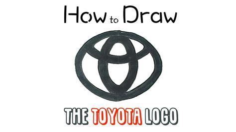 tutorial logo toyota how to draw the toyota logo youtube