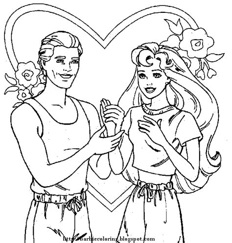 Barbie Coloring Pages Barbie And Ken To Print And Color And Ken Coloring Pages