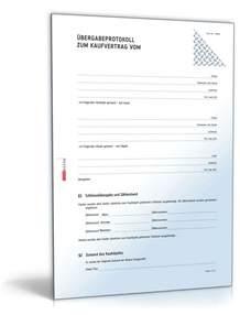 Kündigung Muster Wohnung Word 220 Bergabeprotokoll Hauskauf Rechtssicheres Muster Zum