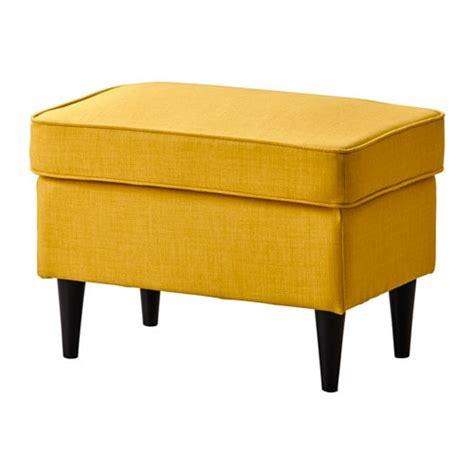 chair with footrest ikea strandmon ottoman skiftebo yellow ikea