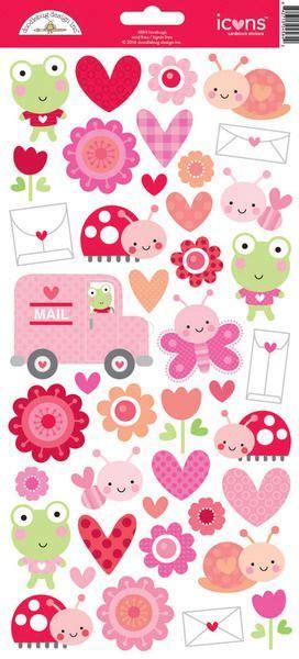 Babyaufkleber Kalender by Doodlebug Design Lovebugs Collection Cardstock