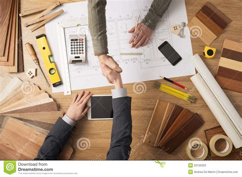 getting into woodworking handshake stock photo image 53150333