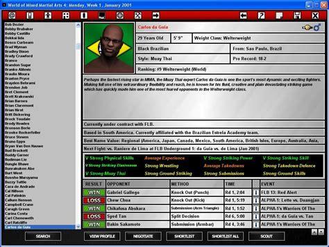 Martial Arts 4 demos pc world of mixed martial arts 4 demo megagames