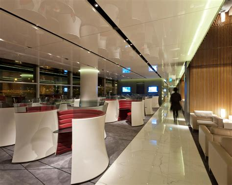 The Cabin Lounge Hong Kong Airport by Cathay Pacific Lounge Opens In Hk Foster Partners