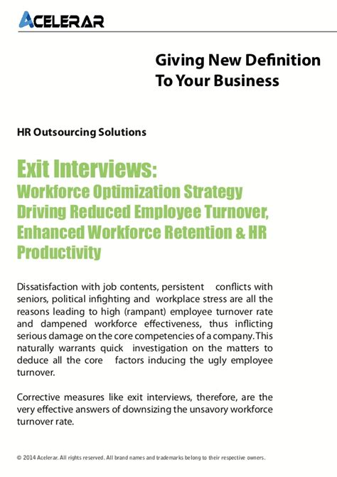 Attrition And Retention Project Mba by Exit Interviews Workforce Optimization Strategy Driving