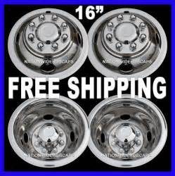 Ford Truck Dual Wheel Covers 4 Ford 16 Quot Dual Steel Wheel Simulators Dually 8 Lug