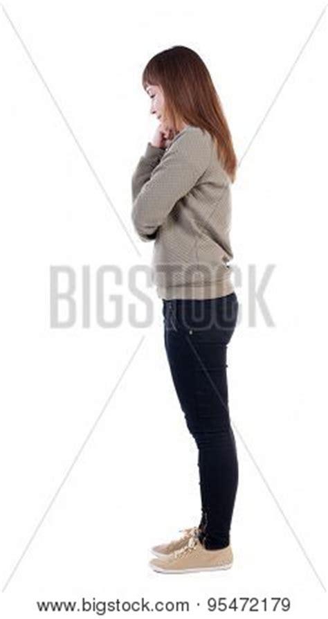 standing sideways back view standing beautiful image photo bigstock