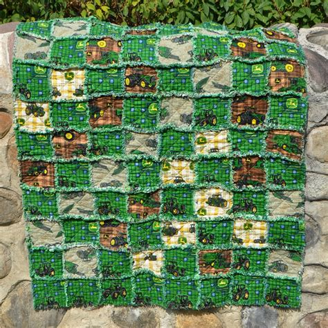 Deere Rag Quilt deere rag quilt 37x47 inches by richardquilts on etsy