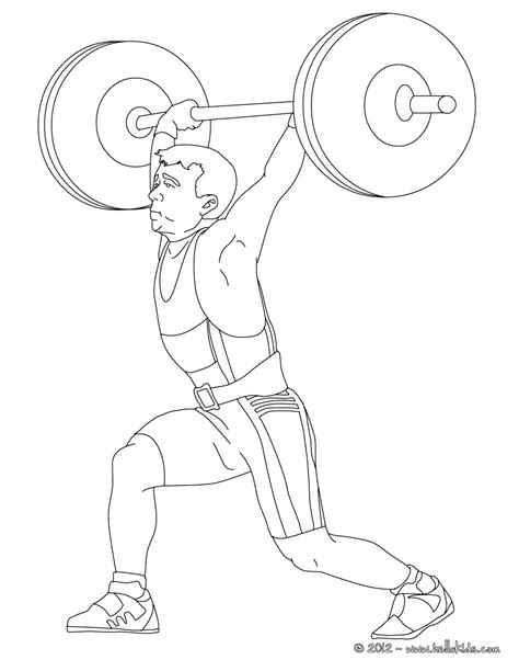 weigthlifting coloring pages hellokids com
