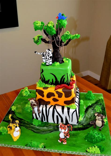 jungle themed birthday cake the shank family a safari theme birthday cake