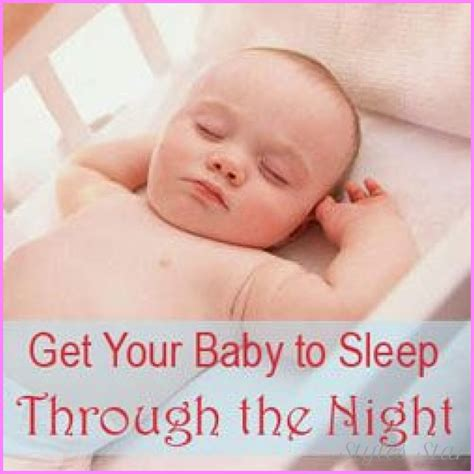baby sleep through the how how to get a baby to sleep through the stylesstar