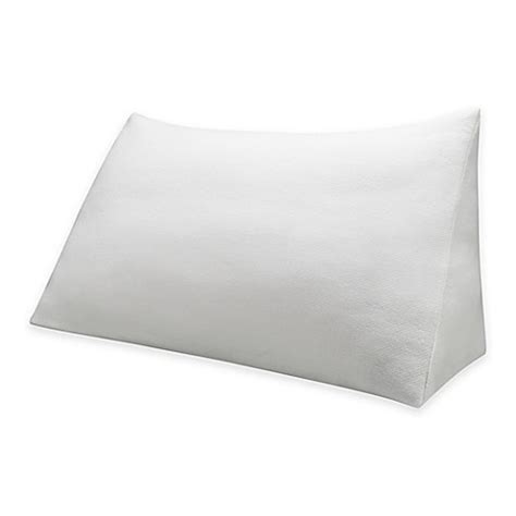 bed wedge pillow bed bath beyond therapedic 174 reading wedge pillow knit cover bed bath