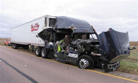 truck crash truck driver injured in crash with grain wagons 187 sioux