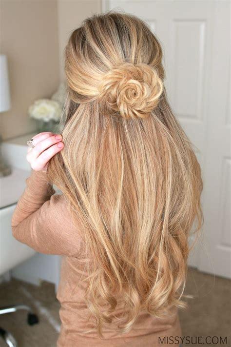 rose hairstyle half up half down best 25 half bun half down ideas on pinterest half up