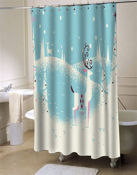 christmas bathroom curtains christmas card shower curtains myshowercurtains