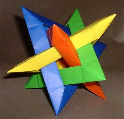 Modular Geometric Origami - modular origami flower