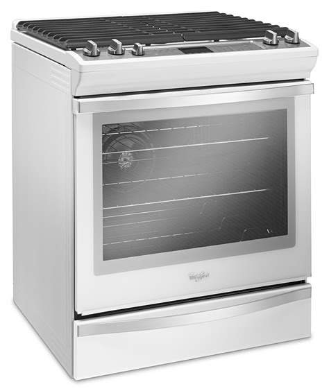 gas kitchen appliances whirlpool 5 8 cu ft slide in gas range weg745h0fh