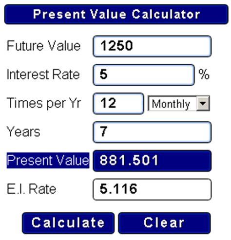ymabyts money present value calculator gadget