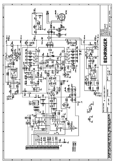 Power Lifier Behringer behringer b300 schematic diagram service manual