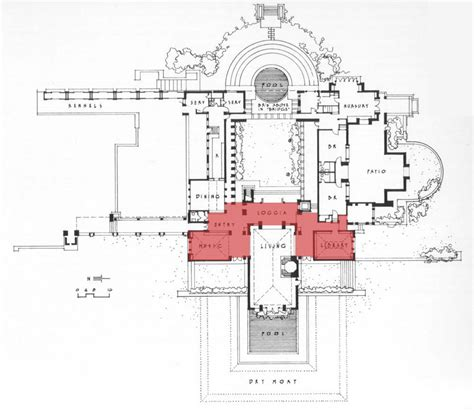 hollyhock house floor plan house design plans