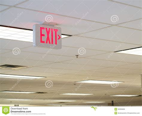 Ceiling Signs by Exit Sign On Ceiling Royalty Free Stock Image Image