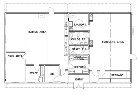 floor plan for child care center facilities enviroplex